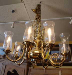 Solid Brass/Globe Chandelier