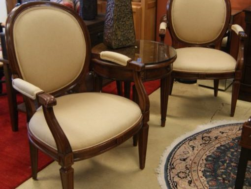 2-Spoon Back Arm Chairs Priced Separate