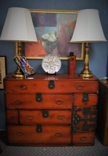 Antique Original Japanese Sendai Tansu Chest of Drawers