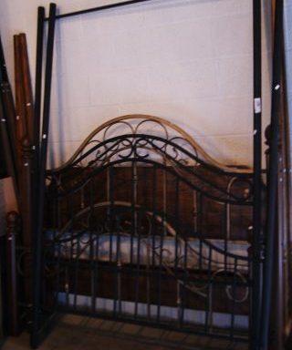 Black Canopy Bed Frame