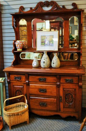 Antique 2 Piece Hutch