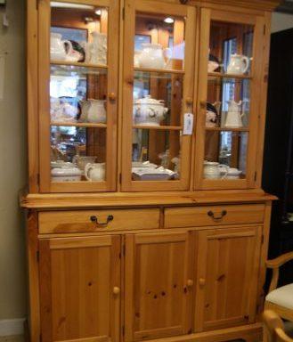 Knotty Pine China Cabinet