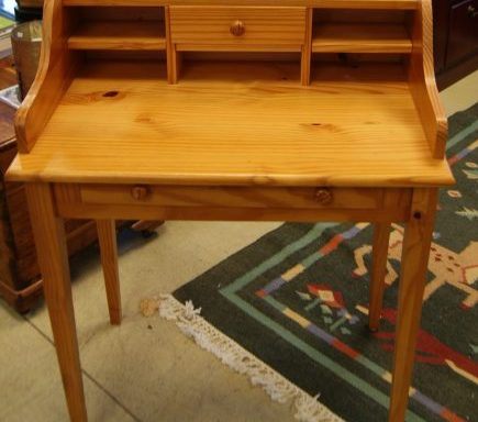 Small Knotty Pine Desk