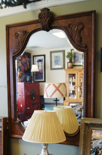 Beveled Semi Ornate Wall Mirror
