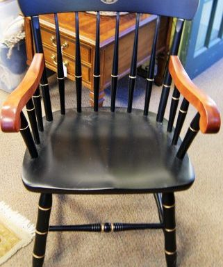 University Of Michigan Spindle Arm Chair