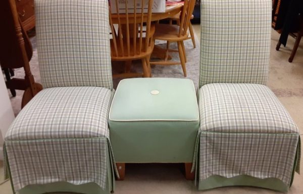 Ethan Allen Parsons Chairs and Ottoman Priced Separate