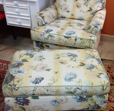 Ethan Allen Arm Chair And Ottoman