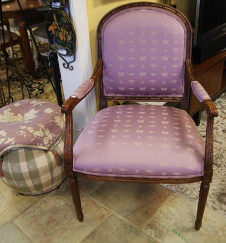 Ethan Allen Arm Chair And Ottoman Priced Separate.