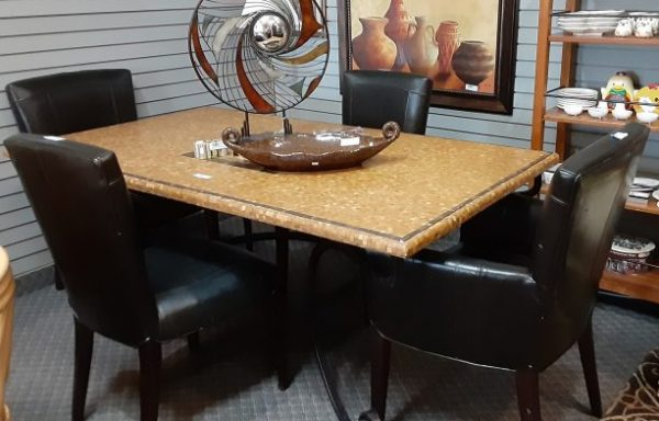 Stone And Wrought Iron Table With Chairs Priced Separate