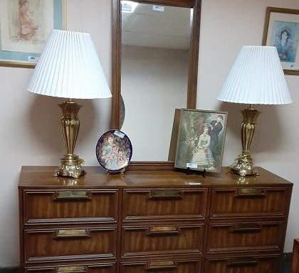 Vintage Dresser-Mirrors-Night Stand And Chest Priced Separate