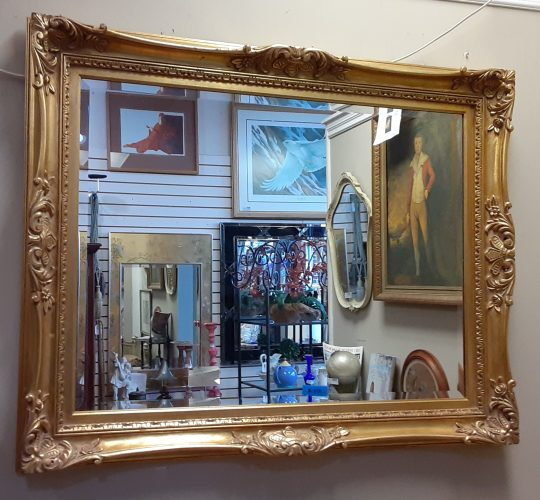 Antiqued Gold Wall Mirror