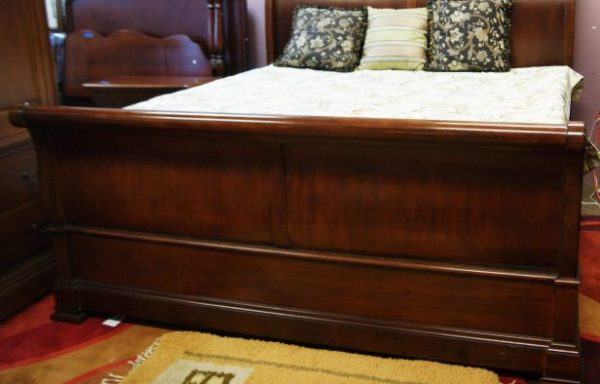 Dresser With Mirror- King Size Sleigh Bed- And Armoire Priced Separate