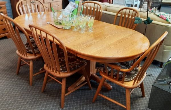 Amish Dining Room Set and China Hutch Priced Separate