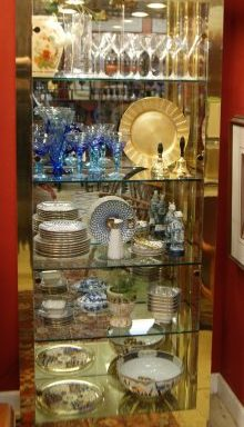 Vintage Curio Display Cabinets Priced Separate