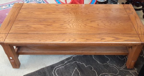 Mission Style Amish Oak Coffee Table