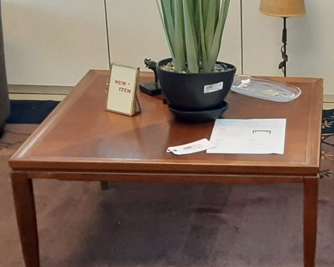 1950's Mid Century Modern Side Table And Coffee Table Priced Separate.