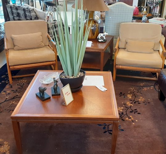 1-Vintage Mid Century Modern Bamboo Arm Chair  ONE LEFT