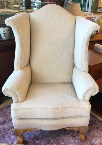 Tall Custom Wing Back Chairs Priced Separate