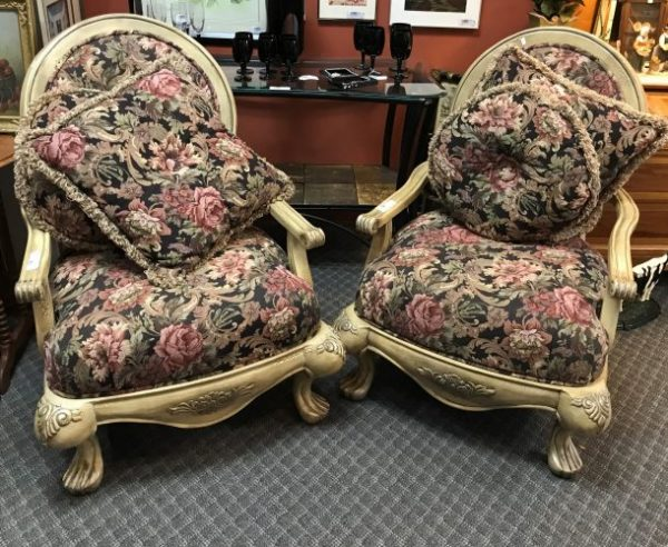 2-Custom Arm Chairs Priced Separate