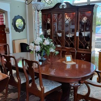Table and Chairs With China Cabinet Sold Separate