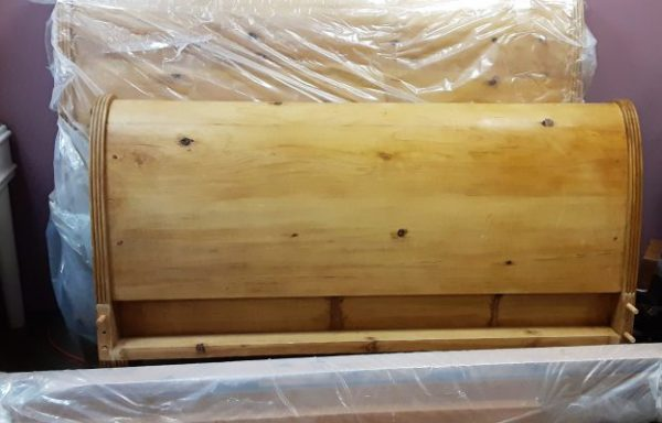 Sleigh Bed With Rails