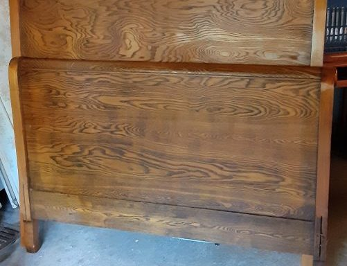 Full Size Antique Sleigh Bed Set
