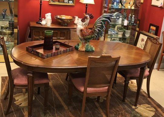 Vintage Table And Chairs With Credenza Buffet Sold Separate