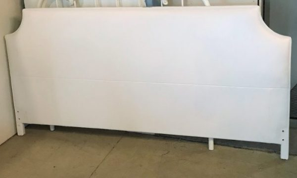 White Leather King Size Headboard.