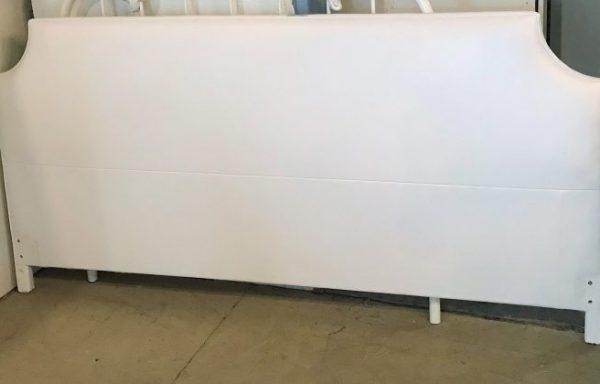 White Leather King Size Headboard.