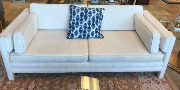Custom White Upholstered Sofa Couch