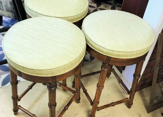 Set of 3 Vintage Bar Stools