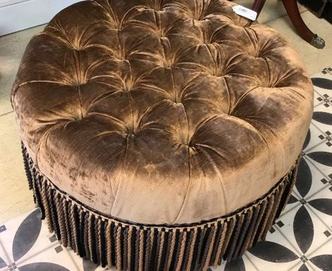 New Orleans Style Tufted Ottoman