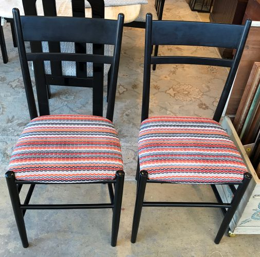 Set of Two Italian Cafe Chairs