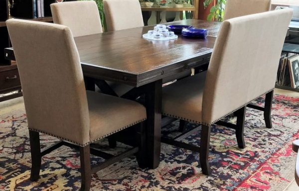 6 Piece Table and Chairs And Bench Set