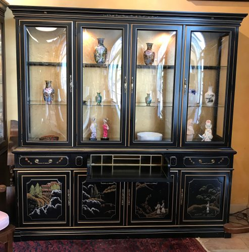2 Piece Oriental China Cabinet