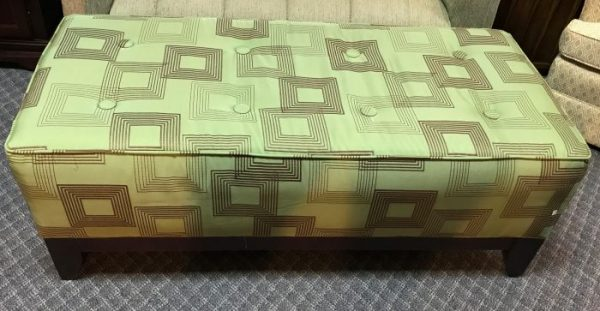 Large Tufted Button Modern Ottoman