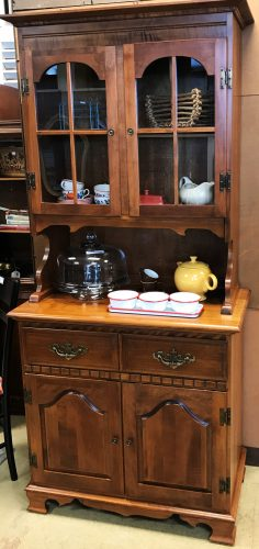 2 Piece Hutch Cabinet