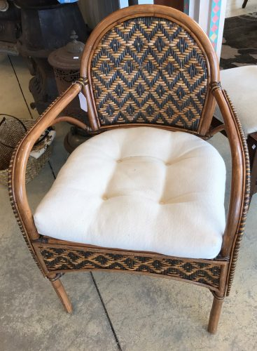 Vintage Wicker And Rattan Arm Chair