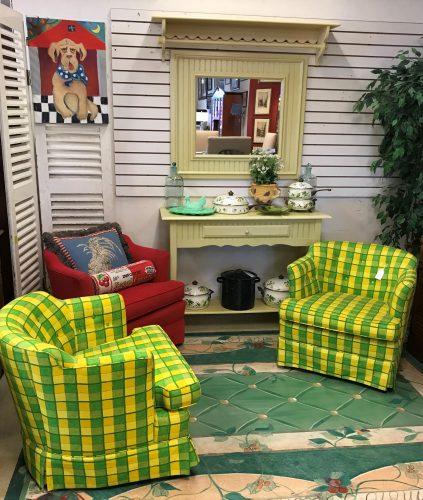 Custom Club Tufted Button Chair Set