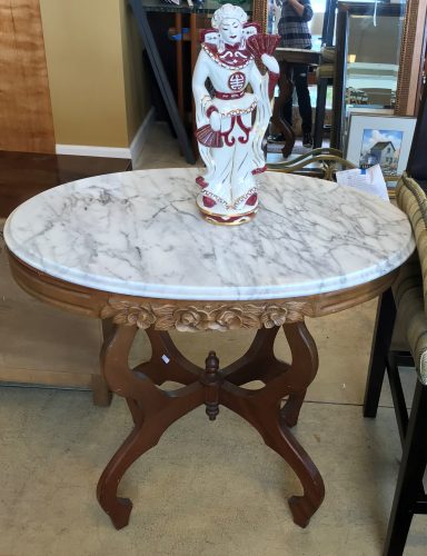 Vintage Oval Parlor Table