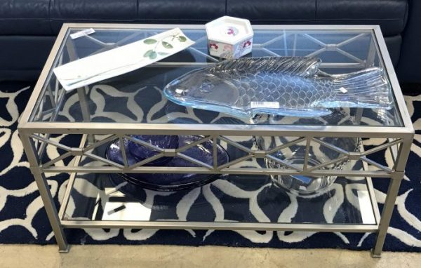Decorative Metal And Glass Coffee Table