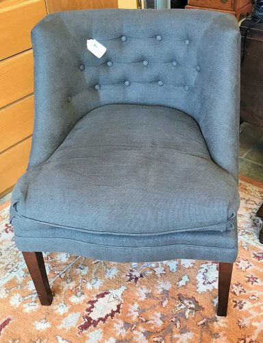 Custom Contemporary Tufted Accent Chair