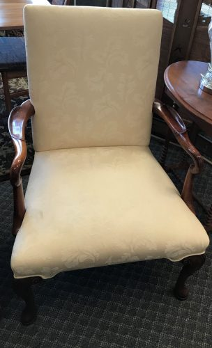 2-Queen Anne Style Arm Chairs Priced Separate