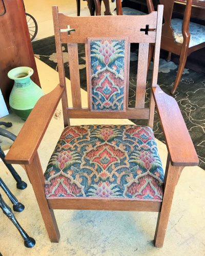 Antique Oak Arm Chair