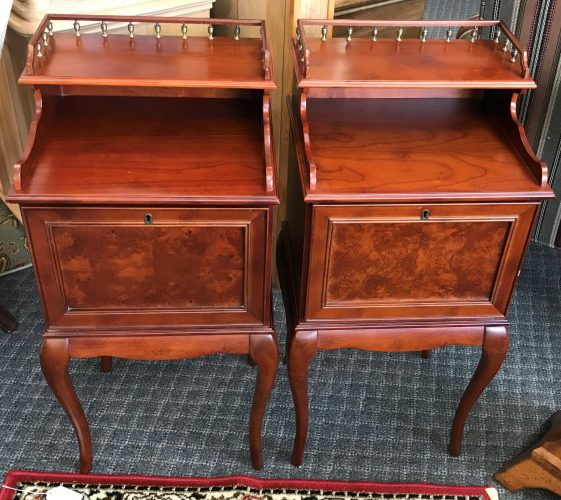 2-Burled Cherry Side Tables Priced Separate