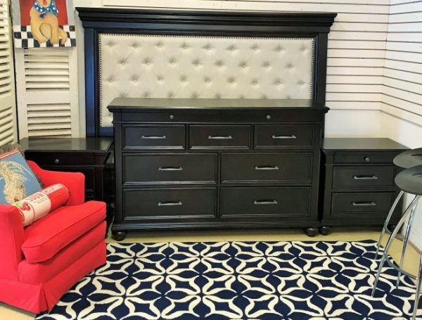 King Size Platform Bed And Pair Of Night Stands And Full Dresser Sold Separate