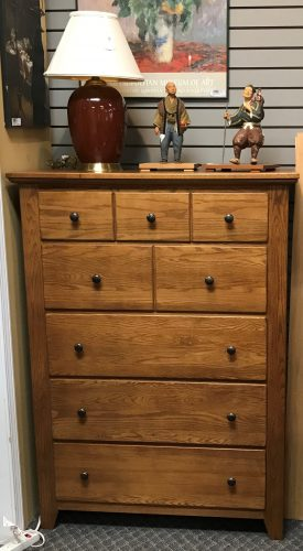Tall Dresser Pair of Night Stands And Queen Size Bed Frame Priced Separate