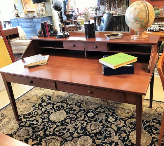 Cherry Amish Library Desk And Chair Priced Separate