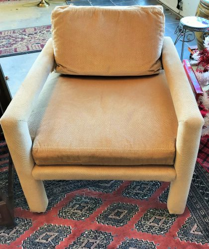 1970's Vintage Drexel Heritage Accent Parsons Chair Set
