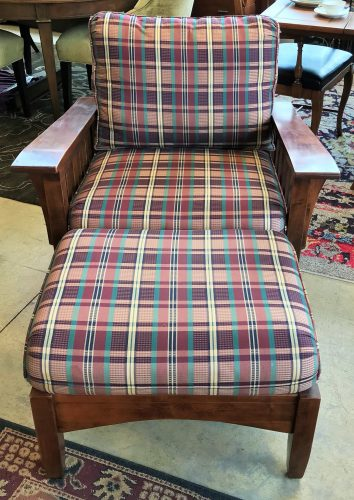Mission Style Arm Chair And Ottoman